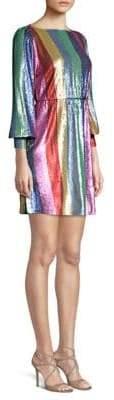 Rixo Ava Rainbow Mini Dress