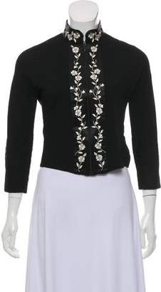 Blumarine Embellished Zip-Up Jacket