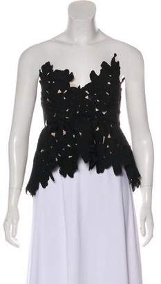 Stone_Cold_Fox Stone Cold Fox Lace-Accented Strapless Top