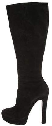 Christian Louboutin Suede Over-The-Knee Boots