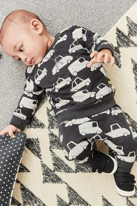 Next Boys Monochrome Jumper And Joggers Co-ord Two Piece Set (0mths-2yrs) - Black