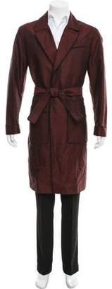 Salvatore Ferragamo Jacquard Wool & Silk-Blend Robe