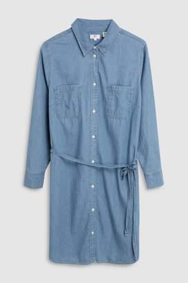 Next Womens Levi s Plus Bebe Denim Shirt Dress 0ee6e066af