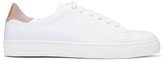Anya Hindmarch SSENSE Exclusive White & Pink Wink Tennis Sneakers $395 thestylecure.com