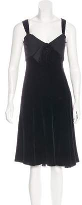 Armani Collezioni Sleeveless Velvet Dress w/ Tags