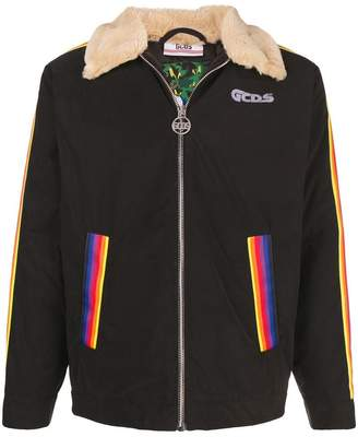Gcds rainbow stripe jacket