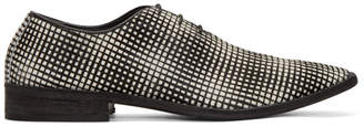Haider Ackermann Black and White Pony Dumortier Check Oxfords