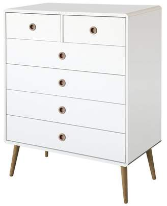 Softline 4+2 Drawer Chest - White