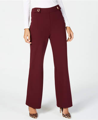INC International Concepts I.N.C. Wide-Leg Hardware-Detail Pants, Created for Macy's