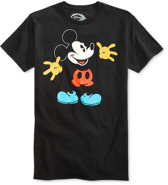 Hybrid Men's Mickey Mouse Graphic-Print Cotton T-Shirt