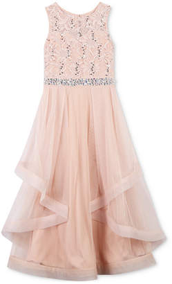 Speechless Sequin Lace Maxi Dress, Big Girls