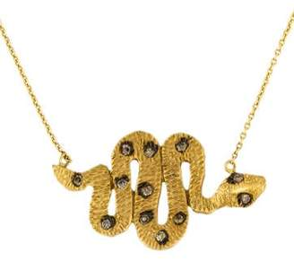 Farah Tanya 18K Diamond Snake Pendant Necklace