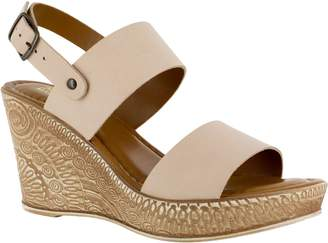 Bella Vita Leather Wedge Sandals - Cor-Italy