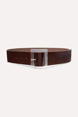 Tibi Patent-leather Waist Belt - Brown