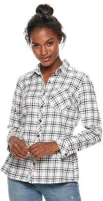 Sonoma Goods For Life Women's SONOMA Goods for Life Essential Supersoft Flannel Shirt
