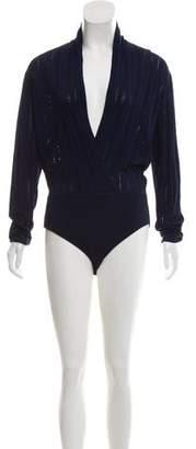 Tabula Rasa Knit V-Neck Bodysuit w/ Tags