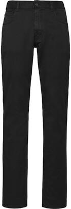 mid-rise straight-leg trousers