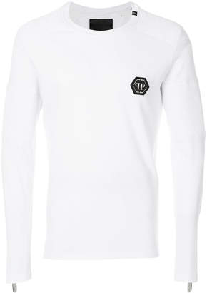 Philipp Plein logo plaque sweater