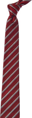 Valentino Red Stripe Silk-Blend Tie