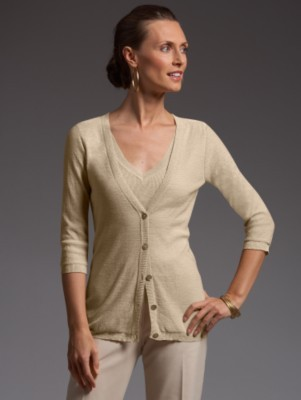 Talbots Collection gold dust cardigan