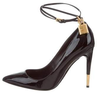 Tom Ford Patent Leather Padlock Pumps