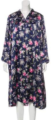 Christian Dior Floral Long Sleeve Nightgown