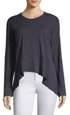 Wilt Long Sleeve Ruffle Wrap Top