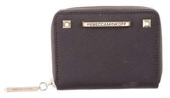 Rebecca Minkoff Leather Compact Wallet - GREY - STYLE
