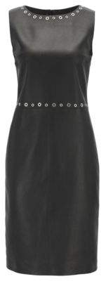 BOSS Hugo Leather Dress Syrix 6 Black
