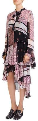 The Kooples Patchwork-Print Dress
