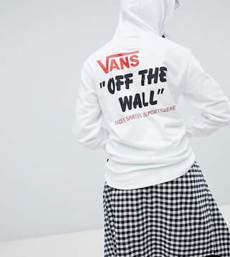 Vans Exclusive White Sponsor Heritage Pullover Hoodie