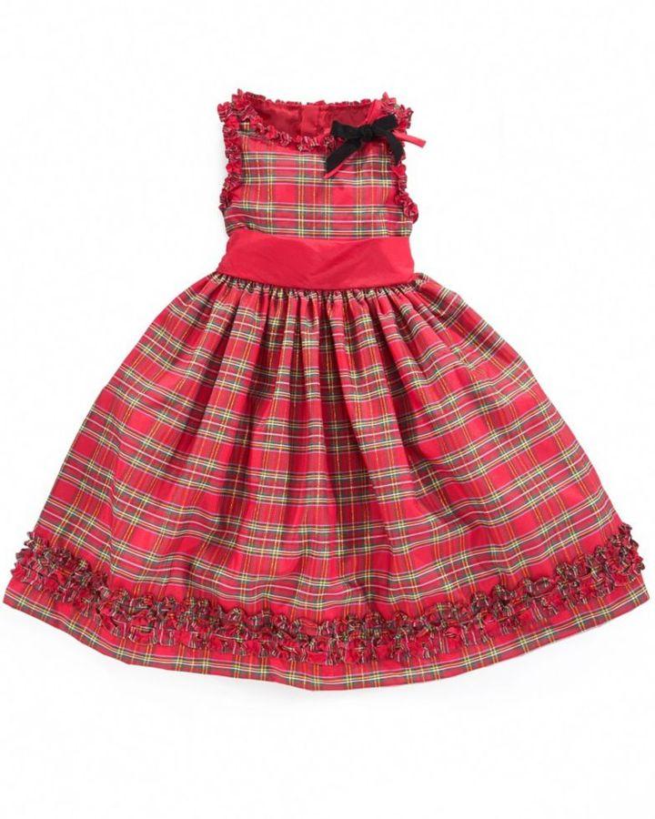 Charter Club Little Girls Dress, Tartan Holiday Dress