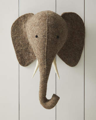 Serena & Lily Felted Wool Wall Animal – Elephant