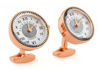 Tateossian Rose Gold-Plated Watch Cuff Links