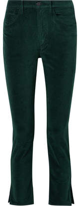3x1 W3 Higher Ground Stretch-cotton Velvet Slim-leg Pants - Emerald