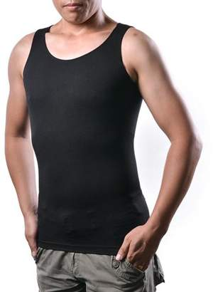 AGPtek Men's Body Shaper For Men Slimming Vest Tummy Waist Lose Weight Compression Shirt Size: XL