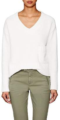 ATM Anthony Thomas Melillo Women's Nubby Crop V-Neck Sweater