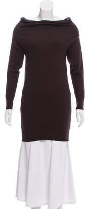 Joseph Long Sleeve Angora Sweater