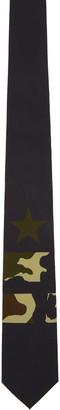 Givenchy Black Camo Star & Double Stripes Tie $195 thestylecure.com