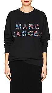 Marc Jacobs Women's Embellished-Logo Sweatshirt - Black