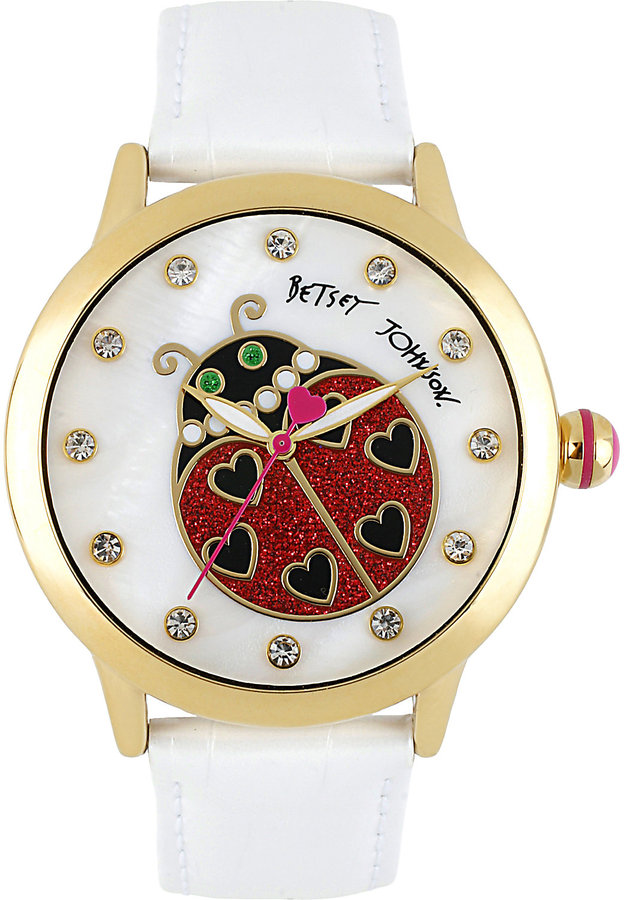 Betsey Johnson Lady Bug Dial Watch