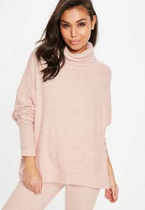 Missguided Brushed Oversized Longline Top