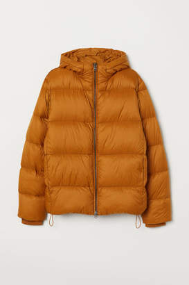 H&M Hooded Down Jacket - Beige