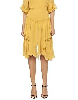 See by Chloe Floaty Silk Midi Skirt
