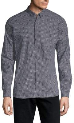 The Kooples Printed Cotton Button-Down Shirt