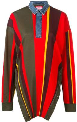 Diesel Red Tag oversized striped polo shirt
