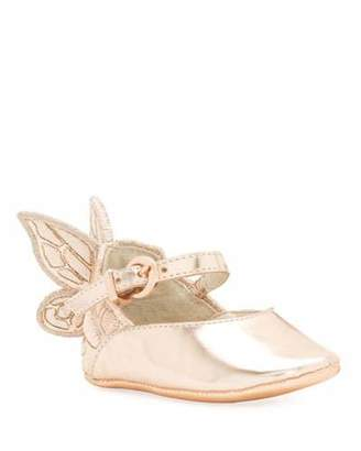 Sophia Webster Chiara Butterfly-Wing Flat, Pink, Infant Sizes 0-12 Months