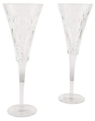 Waterford Pair of Crystal Toasting Flutes