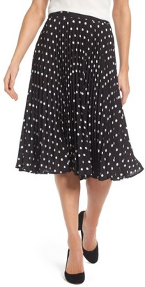 Women's Vince Camuto Polka Dot Pleat Skirt $99 thestylecure.com