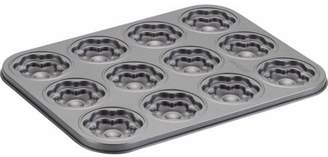 Cake Boss Novelty Bakeware 12-Cup Flower Molded Cookie Pan, Gray